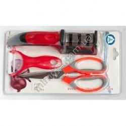 A797 Кухонный набор: точилка + ножницы + экономка