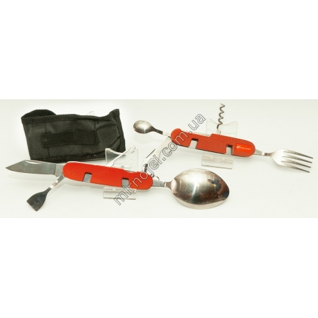 L48 (оранжевый) Складной походный столовый прибор