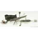 L48 (серый) Складной походный столовый прибор